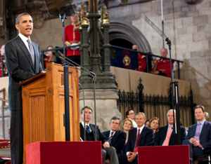 As President Obama spoke to the Mother of Parliaments' at Westminster Hall in London, it was a stark reminder of just closely linked our fates are.