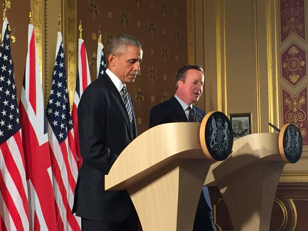 President Obama and UK Prime Minister Cameron brief the press: