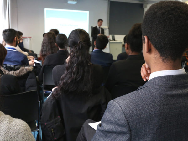 Ambassador Barzun speaks to 6-th form students in Leeds, March 2015