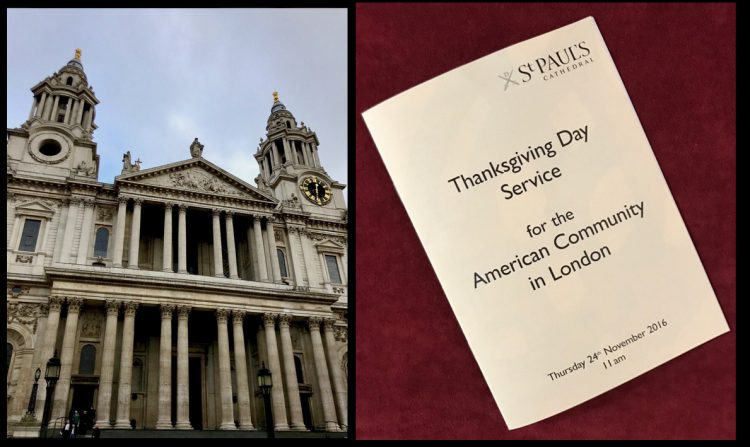 Thanksgiving Day service at St Pauls Cathedral, 2016
