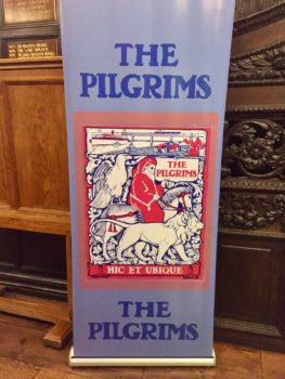 Banner featuring The Pilgrims of Great Britain